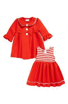 Iris & Ivy orange sleeveless dress and coat