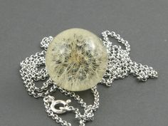 Hieracium  dandelion necklace by ResinSun on Etsy