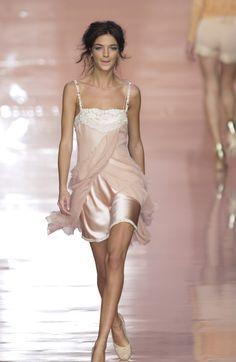 Blumarine at Milan Fashion Week Spring 2004 - Runway Photos Couture Fashion, Runway Fashion, High Fashion, Fashion Show, Fashion Outfits, Milan Fashion, Fashion Design, Fashion Weeks, Embellished Dress