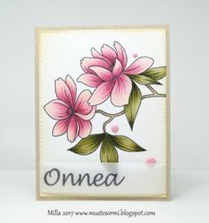 Hello ifeelglee floral greeting card with the sentiment hello beautiful pink floral card by mustesormi yksinkertaisesti kukkia simply flowers m4hsunfo