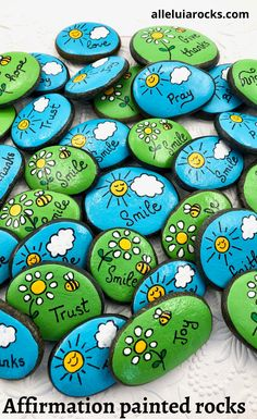 Smile Party Favors Rocks Set of Birthday Party Favors, Painted Stones for Children, Pocke. - Smile Party Favors Rocks Set of Birthday Party Favors, Painted Stones for Children, Pocket Pebb - Rock Painting Patterns, Rock Painting Ideas Easy, Rock Painting Designs, Paint Designs, Painting Rocks For Garden, Rock Painting Kids, Painted Rocks Craft, Hand Painted Rocks, Painted Stones
