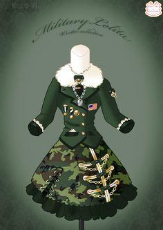 Military Lolita Winter Dress by ~Neko-Vi on deviantART