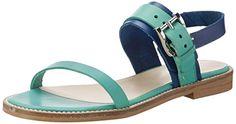 Diese Gute-Laune-Sandalen in aquq grün von TAPODTS komplettieren Ihr Outfit! 100% chromfreies Innenleder sorgt für unbeschwertes Barfußtragen.
