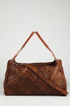 Annika Woven Leather Bag, Jesslyn Blake