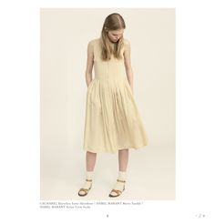Cacharel shirtdress I Isabel Marant merry sandal I Isabel Marant crew socks