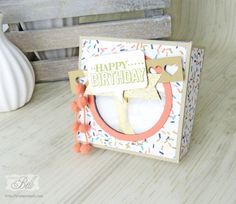 Geburtstagskuchenbausatz Stampin Up Big Day Geschenkidee Milka Tender birthday Cake Present giftbox