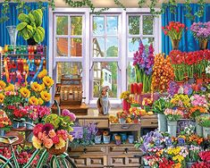 Flower Shoppe - 1000 Piece Puzzle-White Mountain Puzzles