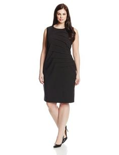 Calvin Klein Women's Plus-Size Sleeveless Side-Starburst Sheath Dress -- To view further for this item, visit the image link. Suits For Women, Clothes For Women, Calvin Klein Women, Fashion Outfits, Womens Fashion, Sheath Dress, Dresses For Work, Plus Size, Black Maxi