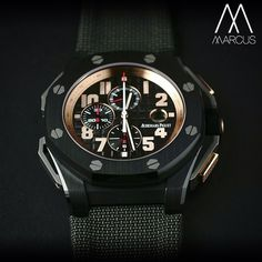 "At 48mm this is not for a ""girlie man"" but for a Conan sized wrist Audemars Piguet Offshore Arnold Schwarzenegger Legacy."
