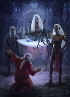 f Drow Elf Cleric hilvl 6 Drow Elf nobles m Drow Elf peasant temple underdark city story lg Elves Fantasy, Fantasy Races, Fantasy Story, High Fantasy, Fantasy Rpg, Dark Fantasy Art, Fantasy Artwork, Fantasy World, Character Inspiration