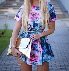 #gorgeous #fashion #floral #cute #dress #neon #pastel #colorful #outfit