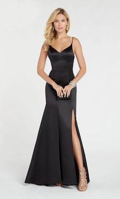 Alyce Paris - 60311 V-neck Luxe Silk Satin Trumpet Dress Prom Dress Stores, Grad Dresses, Prom Dresses Online, Modest Dresses, Paris Dresses, Wedding Dresses, Trumpet Dress, Designer Prom Dresses, Perfect Prom Dress