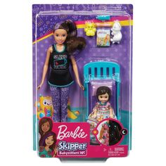Superb Barbie Skipper Babysitters Bedtime Playset Doll and Accessories Now at Smyths Toys UK. Shop for Barbie At Great Prices. Barbie Doll Set, Barbie Skipper, Doll Clothes Barbie, Barbie Toys, Barbie Dream, Barbie Stuff, Toys For Girls, Kids Toys, Barbie Playsets