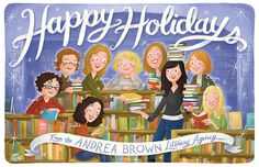 Andrea Brown Literary Agency Holiday Card 2011 by illustrator Ward Jenkins