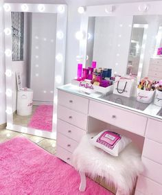 Teen Bedroom Designs, Room Design Bedroom, Room Ideas Bedroom, Home Room Design, Cute Bedroom Decor, Stylish Bedroom, Tumblr Room Decor, Beauty Room Decor, Study Room Decor