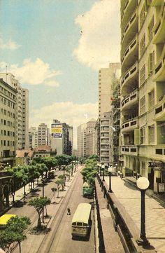 Porto Alegre | Av. Borges de Medeiros nos anos 60.