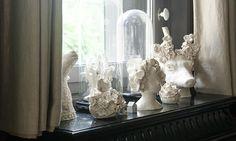 Sculptures alexandra valla blanc faience
