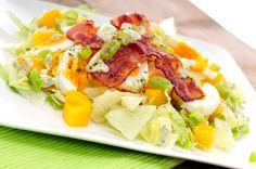 Mango salade met ei en spek
