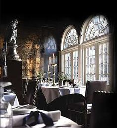 Eating - Despite the faux rumours about British food, it is much improved. Most cities can now boast many top restaurants. This is the Secret Garden restaurant at The Witchery, Edinburgh, Scotland