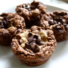 Chocolate Therapy: Chocolate Peanut Butter Brownie Bites