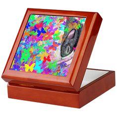 rat dreams of butterflies Keepsake Box