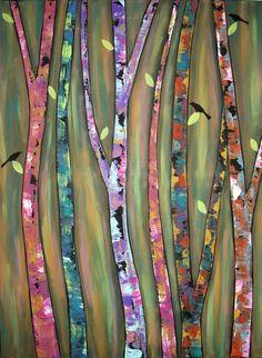 Whistling+Trees+Folk+Art+Karla+Gerard+Canvas+by+KarlaGerardFolkArt,+$5.99