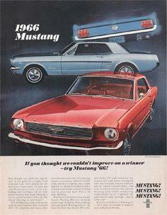 1966 Mustang .......someday I will own one...coupe with ponyback seats!!
