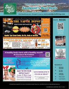 December 2013 Sandpoint Deal It Local Magazine | Sandpoint, Idaho | www.sandpointliving.com