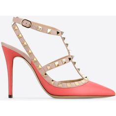 7f11f3bb65ca Valentino Garavani Rockstud Ankle Strap ( 895) ❤ liked on Polyvore  featuring shoes