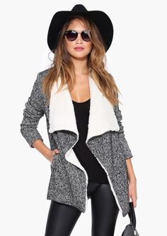 Love this shearling lined jacket