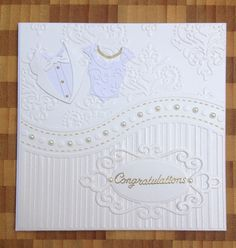 Wedding card using 'that folder' all occasions embossing folder