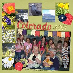 We had such a fun family reunion in Breckenridge, Co. Only wish ALL the kids and grandkids could have been there!! I used: Queen Wild Scraps Templates: State of Mind templates rocky mountains found here:  http://store.gingerscraps.net/State-of-Mind-Rocky-Mountains.html and a kit from Blue Heart kit You keep me in stitches found here:  http://store.gingerscraps.net/You-Keep-Me-In-Stitches.html