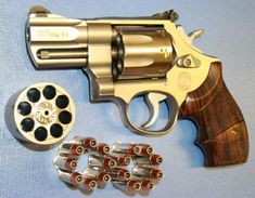 My favorite revolver Smith and Wesson model 627 .357 snub nose 8 shot. in my opinion the best handgun to carry for back packing/hiking in the lower 48 states. If you add Grizzly ammunition to it, its a good Montana and Alaska handgun too for Brown (Grizzly) bear and Moose defense.