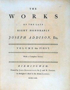 39. Baskerville, John Baskerville (1754) — As the contemporary Caslon typefaces did not appeal to John Baskerville, he began in 1750 to cut his own designs. #typography #fonts