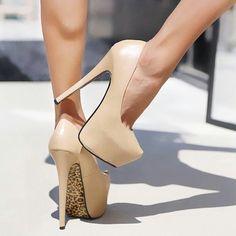 Leopard skin  tone heels...love them