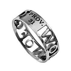 'Woman Of God' - Women's Mini Silhouette Ring