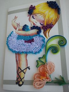 """Idei si Creatii Quilling: """"I'm dancing for the Diamond Jubille of the Queen ! Quilling Dolls, Arte Quilling, Quilling Work, Origami And Quilling, Quilling Paper Craft, Easy Paper Crafts, Paper Quilling Tutorial, Paper Quilling Flowers, Paper Quilling Patterns"""