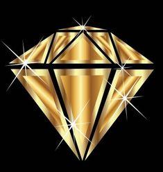 Diamond with brilliant sparkle jewelry gold vector Stock Photo - 15435062