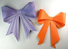 Cómo hacer un lazo de origami   Manualidades