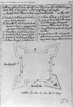 Castillo de San Marcos in St. Augustine was designed by Ignacio Daza, a Spanish engineer living in Cuba. (1675) | Florida Memory