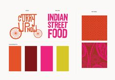 Curry Up Now Indian Street Food Restaurant and Food Truck Brand Identity Bay Area Logo, Pattern & Branding System Design