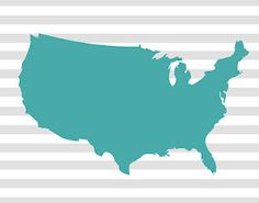 Free silhouettes of all 50 states and the USA--add a heart wherever you want!