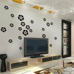 Stylish Irregular Shaped Petals Vinyl Decal Removeral Wall Sticker Home Decor (Large Size) New Home Essentials, Black Wall Decor, Wall Clings, Wholesale Home Decor, Wall Stickers Home Decor, Black Walls, Home And Living, Vinyl Decals, Home Office