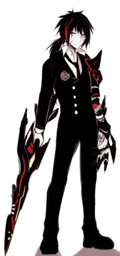 Red And Black Anime : black, anime, Black/Red, Anime, Character, Ideas, Characters,, Anime,
