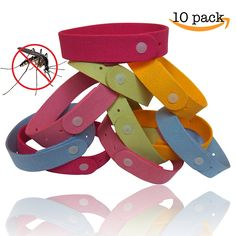 Mosquito Repellent Bracelet (10-Pack) by TantiQ ® - Safe -- Want to know more, click on the image. (This is an Amazon Affiliate link and I receive a commission for the sales)