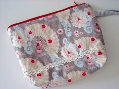 Cosmetic bag. USA Designer Fabric.