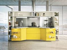 Kitchen Design Break Rule Kicthen Design With Cool Yellow One