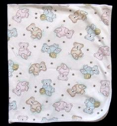 594238ab26 Vintage Carters White Pastel Tan Blue Pink BEAR Honey Bee Cotton Baby  Blanket  Carters Cotton