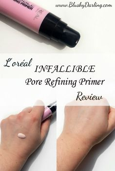 Sharing my thoughts about this new primer from the drugstore: the L'Oreal Infallible Pore Refining Review is up! #affordable #makeup #loreal #beauty