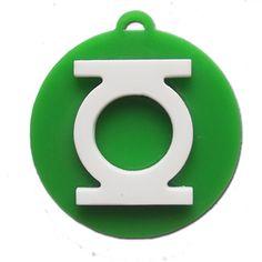 Dupla camada lanterna verde cortado a laser pingente